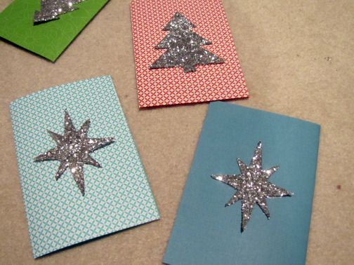 277 best gift ideas cards images on pinterest gifts diy and diy sparkling xmas cards solutioingenieria Images