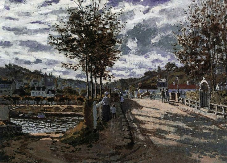 The Bridge at Bougival 1870 Oil on canvas, 63 x 91 cm Currier Gallery of Art, Manchester, New Hampshire