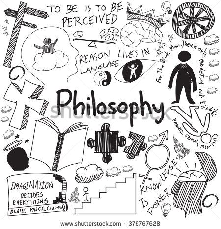 World philosophy and religion doctrine handwriting doodle sketch design subject sign and symbol in white isolated background paper for education subject presentation or introduction with text vector