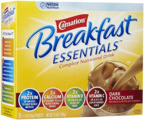 Carnation Instant Breakfast Powder, Dark Chocolate, 10 pk -- Want additional info? Click on the image.