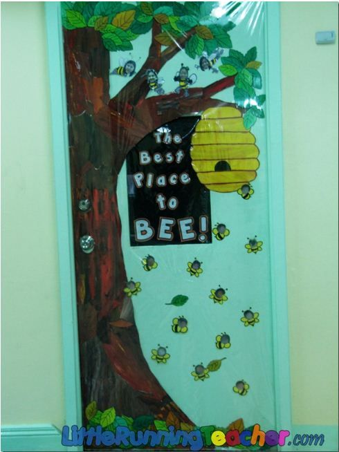 Busy Bee Themed Door for Preschool