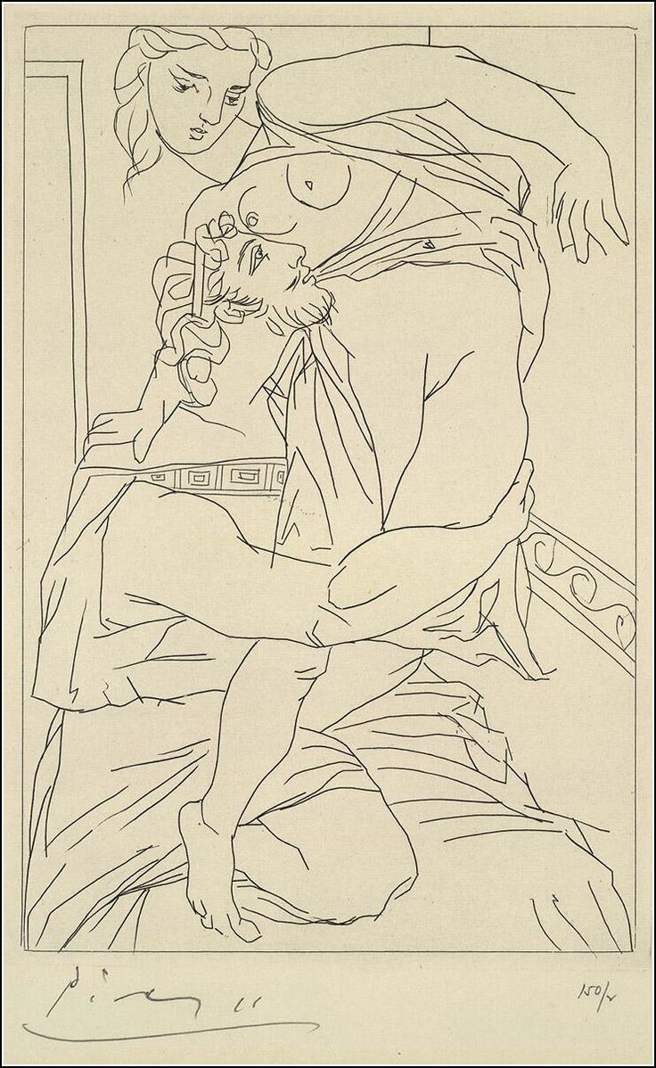 Pablo Picasso - Illustrations for racy Ancient Greek Comedy, 1934