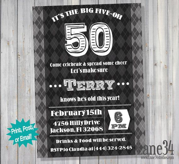 50Th Birthday Invitation Quotes with great invitations design