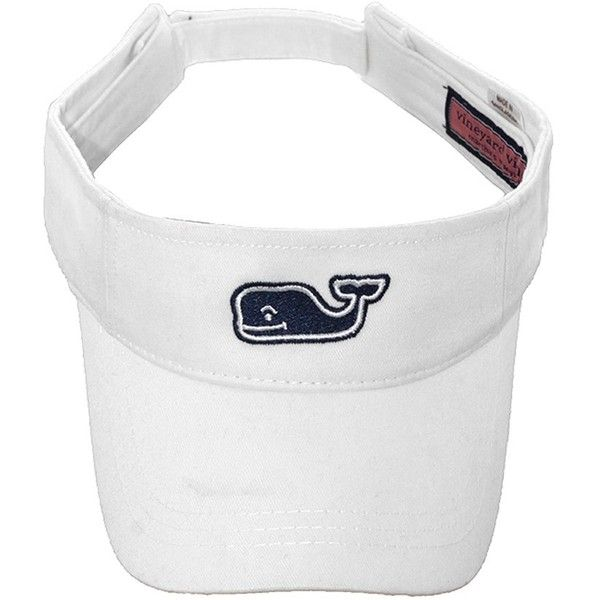 Vineyard Vines Whale Visor ($20) ❤ liked on Polyvore featuring accessories, hats, vineyard vines hat, visor hats, sun visor hat, sun visor and vineyard vines