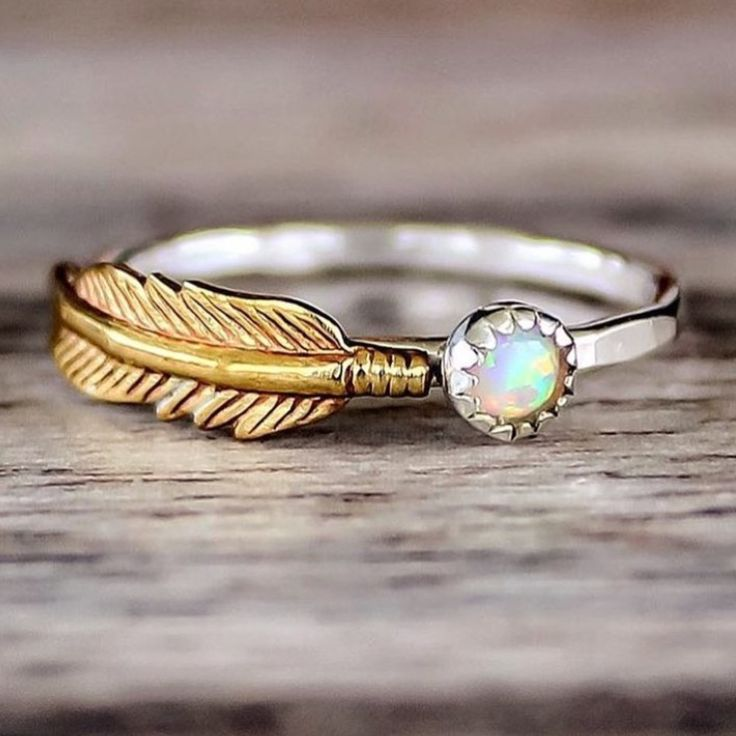 Mermaid Opal and Feather | Bohemian Jewelry | Indie and Harper