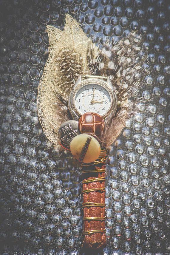 Men's Vintage Unique Watch  Buttonhole CUSTOME by MeadowMenagerie