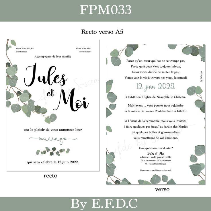 Bienvenus (ues) dans mon catalogue de créations FAIRE PART MARIAGE. Vous décou…