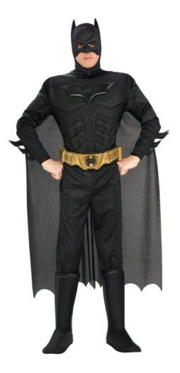 Adult Batman The Dark Knight Movie Mens Fancy Dress Costume Party Outfit (R880671) | Gents TV and Film Costumes | Fancy Dress Gents TV and F...