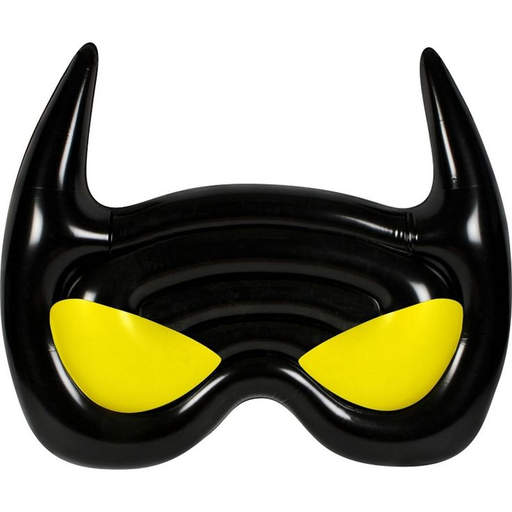 Even superheroes need time to relax in the pool! Feel your troubles drift away as you recline in your new Batman Mask air lounge. Perfect for pool parties!