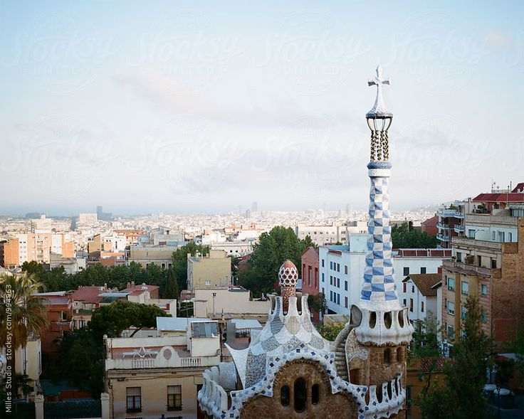 Park Güell and Barcelona View
