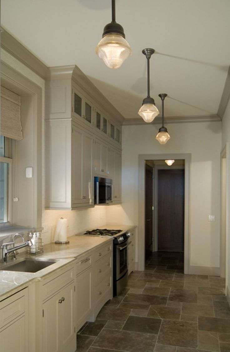15 best kitchen lighting ideas images on pinterest for Galley kitchen light fixtures