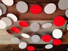 Red and Gray Garland Birthday Party Decor Ohio by PartyMadePretty