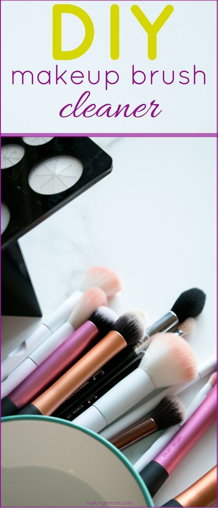 Ew! Do you know what lives in your makeup brushes? I had no idea there were so many reasons why you should clean your makeup brushes. I'm making this DIY makeup brush cleaner tonight!
