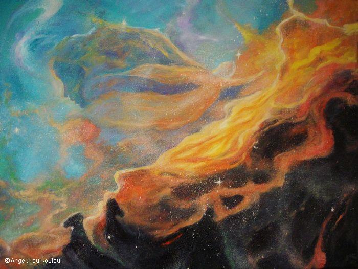 ΓΕΝΕΣΙΣ IV, λάδι σε καμβά, 80x60cm, 2010 GENESIS IV, oil on canvas, 80x60cm, 2010