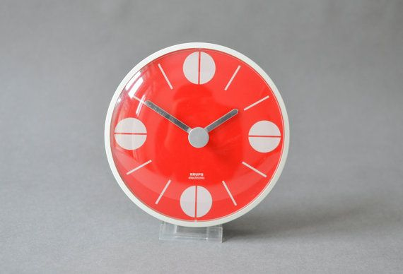 Vintage Krups clock Krups wall clock 70s clock by MightyVintage