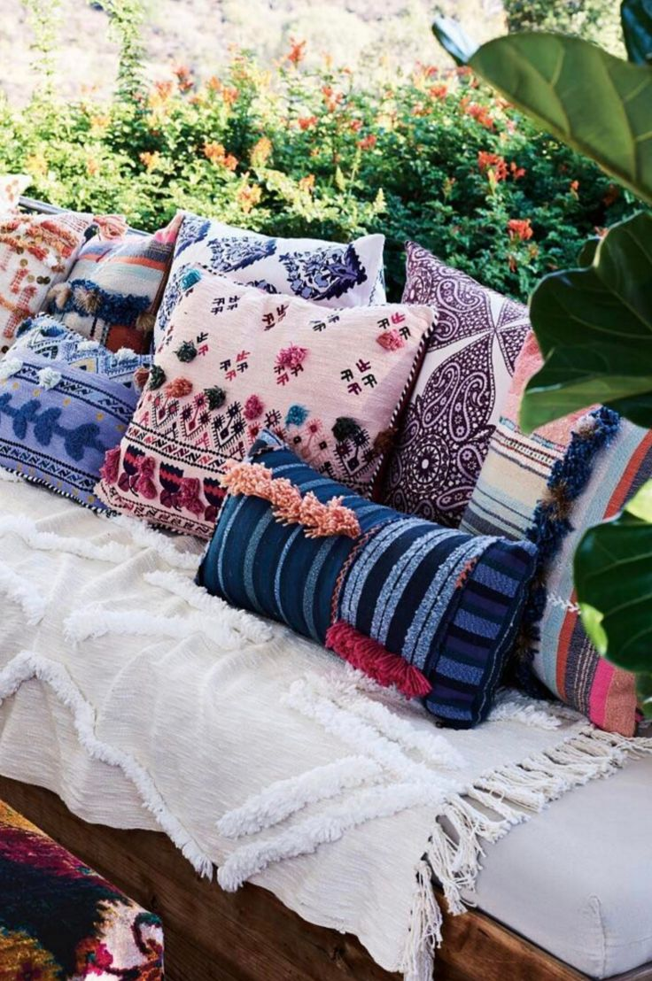 Gorgeous new season pillows at Anthropologie