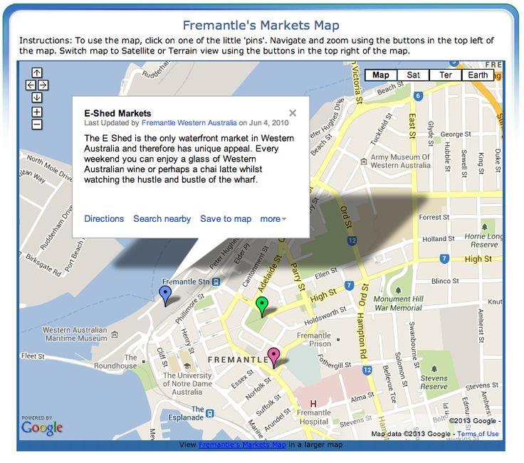 Fremantle Markets Map