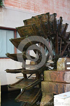 The famous watermill a Treviso, north Italy, Europe.