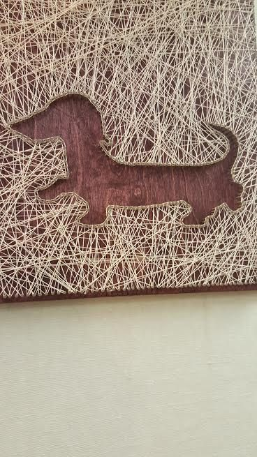 String Art Dachshund by PawtiqueCollars on Etsy