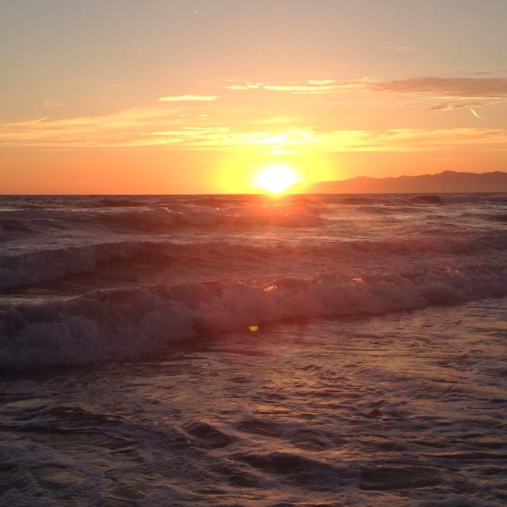 Sunset over Playa Del Rey beach- California
