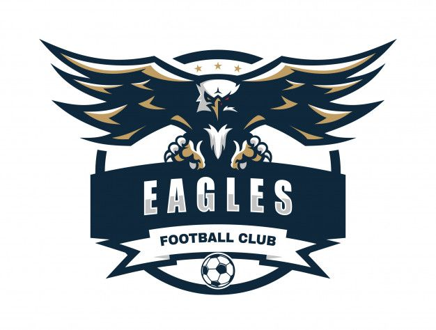 Eagle Football Club Vector Logo Template Vector Logo Sports Logo Inspiration Logo Templates