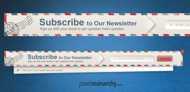 Newsletter Envelope Signup Pop Up #Form – #Free #PSD