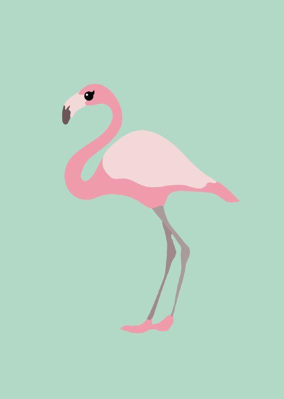 Poster A3   Flamingo   Studio Inktvis