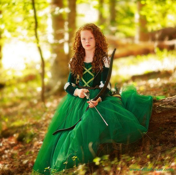 Merida Costume in Tulle Brave Inspired Princess Gown by EllaDynae
