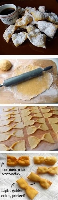 My Aunt Mary's recipe for ITALIAN BOW TIE COOKIES aka Angel Wings from author Cleo Coyle