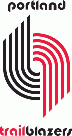 Portland Trail Blazers Primary Logo (1971) - 10 red and black lines between script