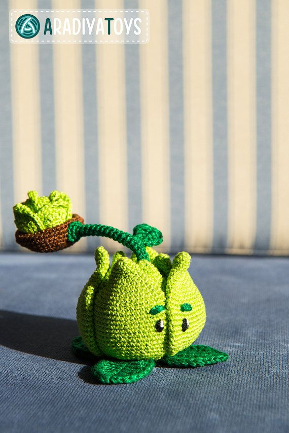Crochet Pattern of Cabbage-pult from Plants vs Zombies (Amigurumi...