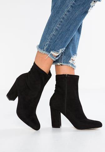 EDITT - High heeled ankle boots - black