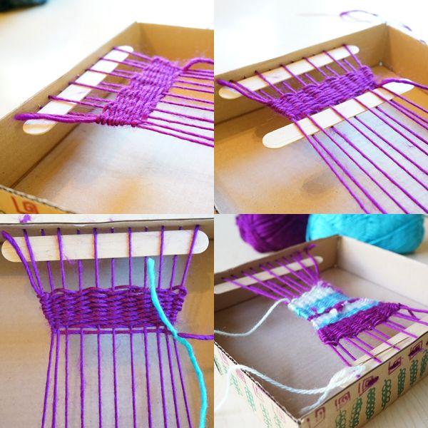 Caja Fácil tejer telar para niños | TinkerLab.com