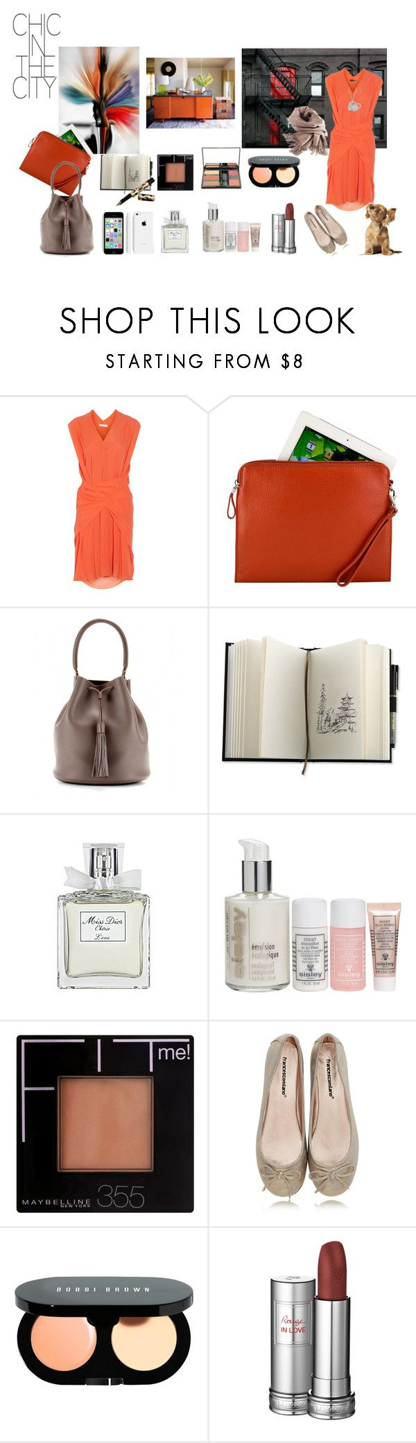 """Colors and neutral for work Style"" by nathalie-puex ❤ liked on Polyvore featuring See by Chloé, Alicia Klein, Anya Hindmarch, Christian Dior, Sisley, Maybelline, Francesco Milano, Bobbi Brown Cosmetics, Dr.Hauschka and Filippa K"