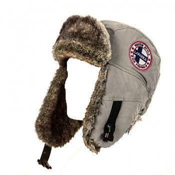 Зимняя шапка-ушанка LAPPI мех белка  верх-плащ.беж.подкл.-флис XL