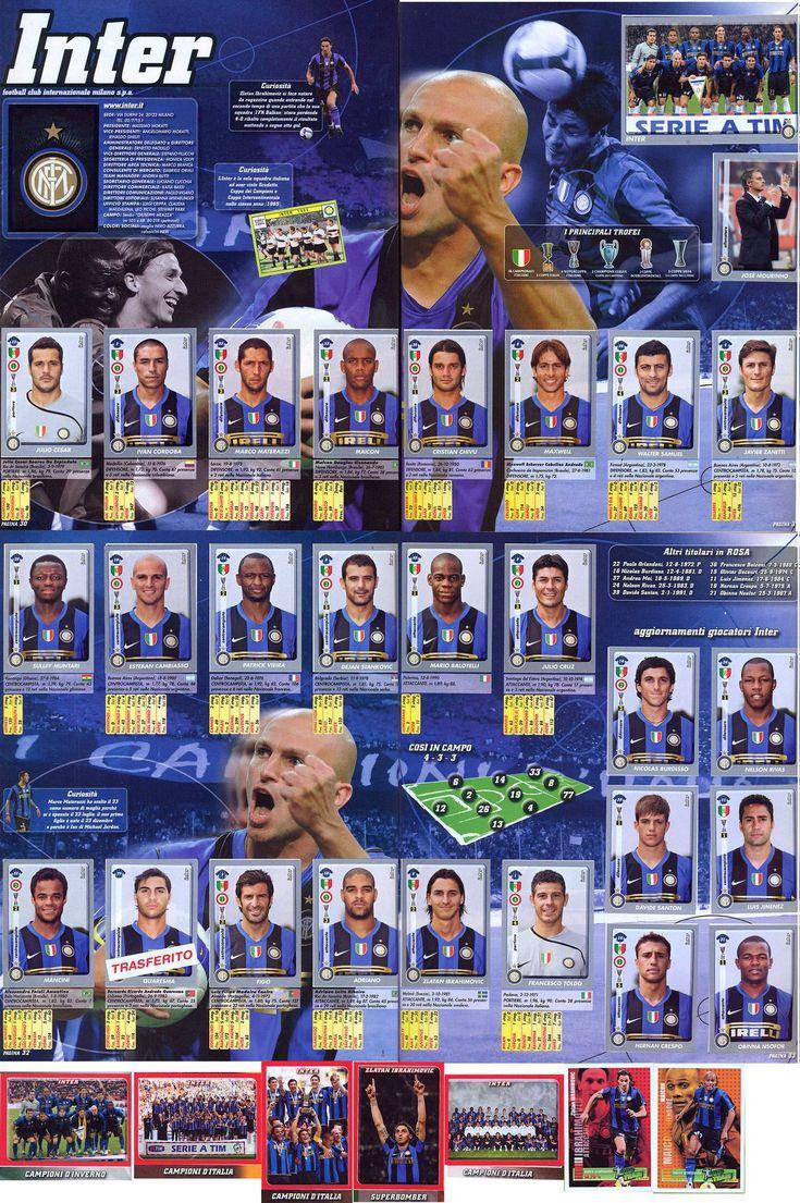 INTER Campione d'Italia 200809 figurine calciatori