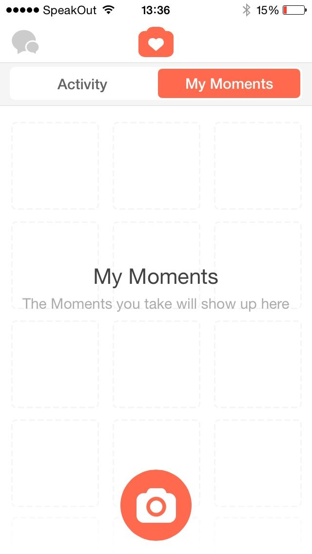 No moment in Tinder for iPhone
