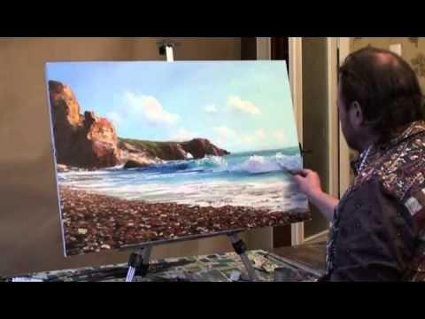 """Как нарисовать море. Мастер-класс """"Прозрачная волна"""" - YouTube"""