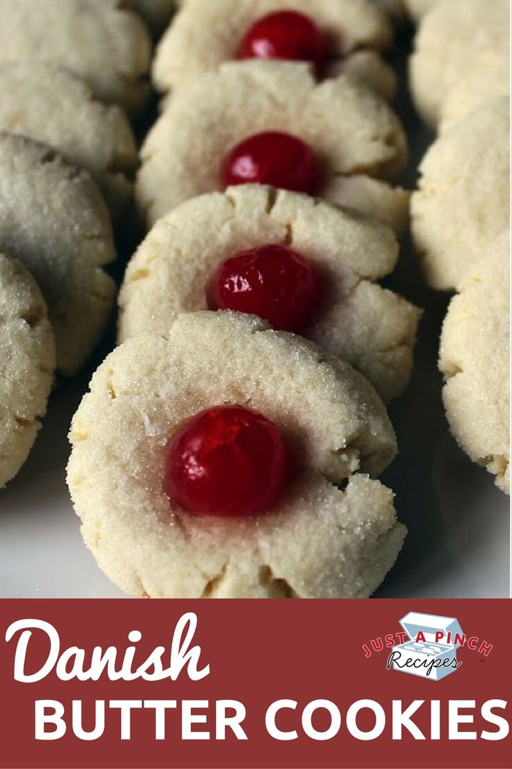 Rich, buttery and chewy, these cookies are similar to a sugar cookie but without all the fuss. They remind me of a Christmas cookie but will be good any time of year.