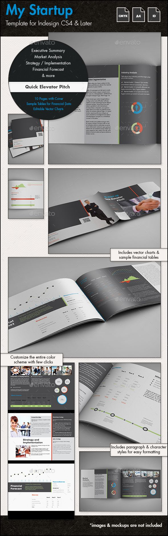 Quick Business Plan Template / Elevator Pitch - A4 Landscape
