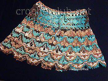 юбка крючком языки пламени - тут схема для предыдущей юбки, той, что резинка поперёк :)