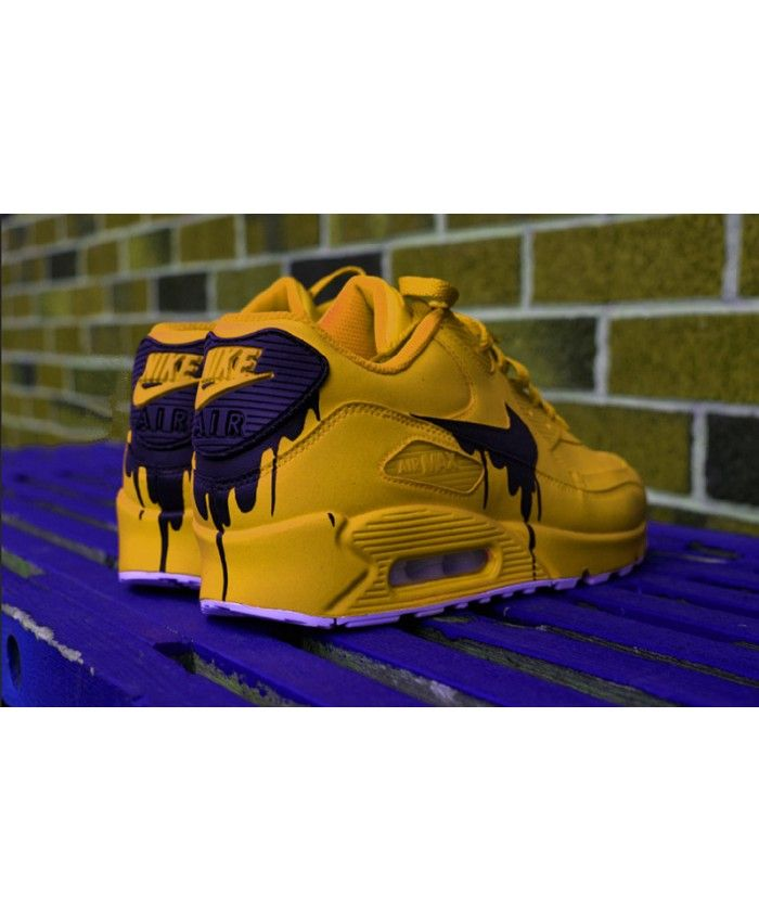 ea85fb51eac9 Nike Air Max 90 Custom Candy Melt Yellow Trainers Online UK ...
