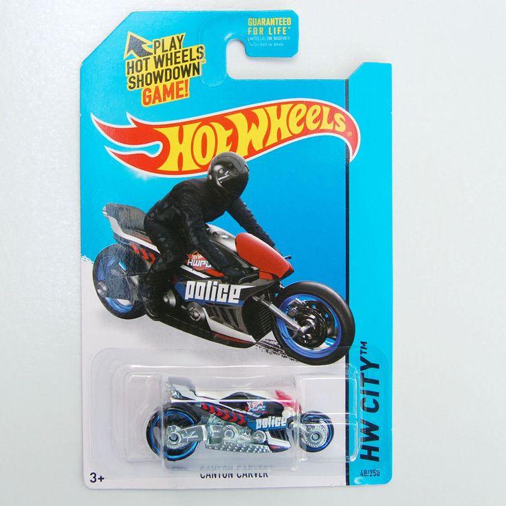 2015 hot wheels 48 canyon carver police motorcycle - Rare Hot Wheels Cars 2015