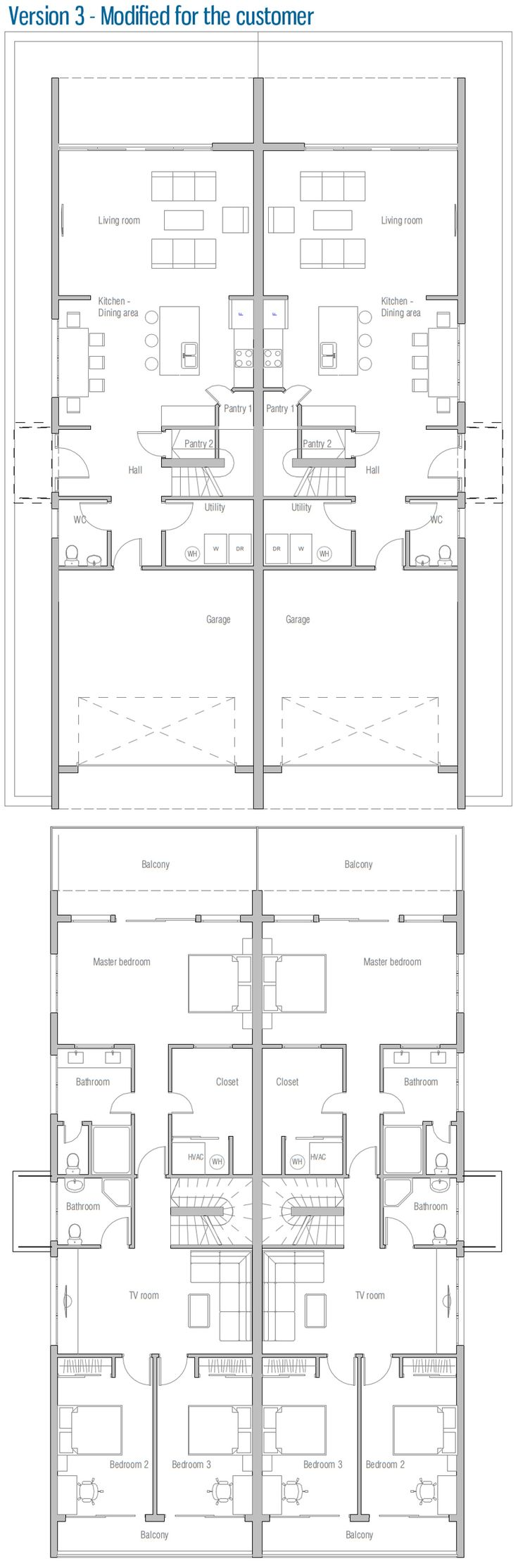 house design semi-detached-house-plan-CO83d-2 30