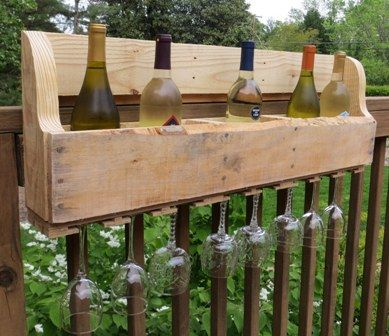 Directions for making a wine bottle and wine glass holder from a pallet - for DAD!