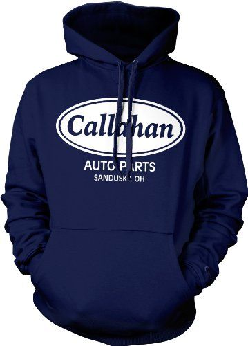 Callahan Auto Parts Sweatshirt Tommy Boy Sweatshirt Sandusky Ohio Callahan Brakes Mens Funny Hoodies (Many Colors) X-Large Navy