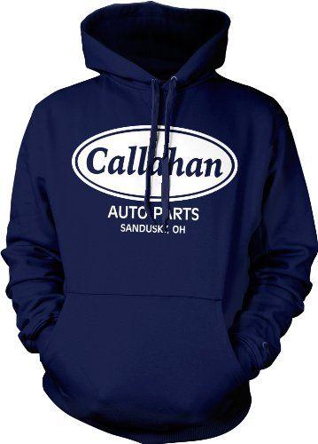 Callahan Auto Parts Sweatshirt Tommy Boy Sweatshirt Sandusky Ohio Callahan Brakes Mens Funny Hoodies (Many Colors) X-Large Navy