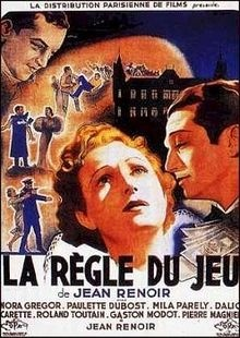 "The Rules of the Game (original French title: La Règle du jeu) is a 1939 French film directed by Jean Renoir about upper-class French society just before the start of World War II. He originally adapted the story from Alfred de Musset's Les Caprices de Marianne, a popular 19th-century comedy of manners: ""My first intention was to film a transposition of Caprices de Marianne to our time"