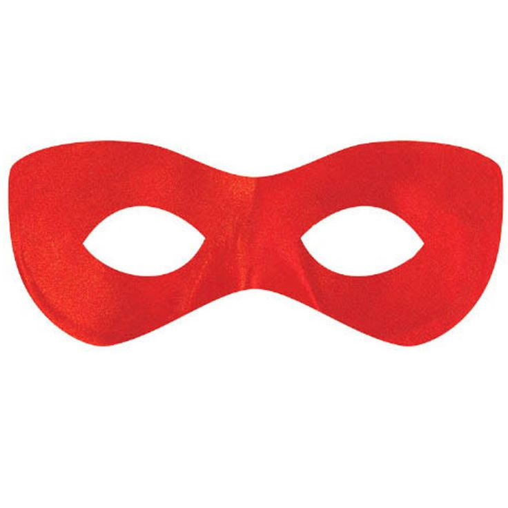 Red Superhero Disguise Mask