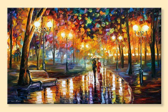 Rain S Rustle Limited Edition Romantic Art Print Digital Etsymktgtool Rain Romanticart Romanticp Landscape Wall Art Art Painting Oil Romantic Paintings